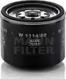 Mann-Filter W 1114/80 - Масляний фільтр autocars.com.ua