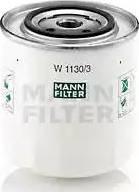 Mann-Filter W 1130/3 - Масляний фільтр autocars.com.ua