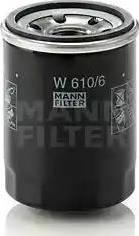 Mann-Filter W 610/6 - Масляний фільтр autocars.com.ua