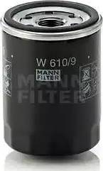 Mann-Filter W 610/9 - Масляний фільтр autocars.com.ua