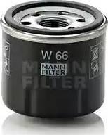 Mann-Filter W 66 - Масляний фільтр autocars.com.ua