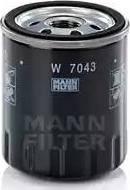 Mann-Filter W 7043 - Масляний фільтр autocars.com.ua
