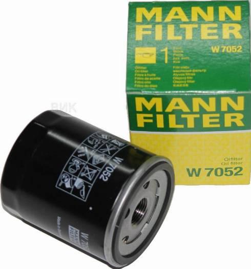 Mann-Filter W 7052 - Масляний фільтр autocars.com.ua