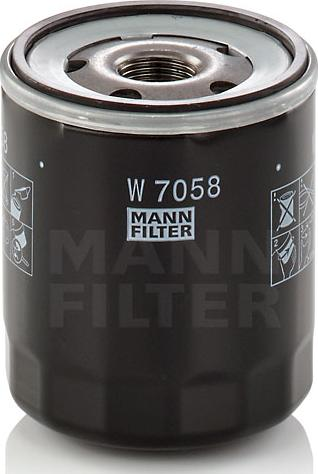 Mann-Filter W 7058 - Масляний фільтр autocars.com.ua