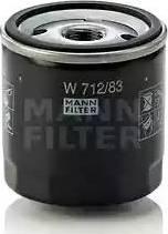 Mann-Filter W 712/83 - Масляний фільтр autocars.com.ua