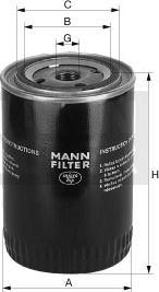 Mann-Filter W 712/92 - Масляний фільтр autocars.com.ua