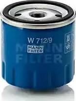 Mann-Filter W 712/9 - Масляний фільтр autocars.com.ua