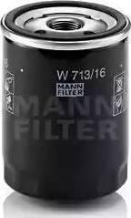 Mann-Filter W 713/16 - Масляний фільтр autocars.com.ua