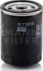 Mann-Filter W 713/18 - Масляний фільтр autocars.com.ua
