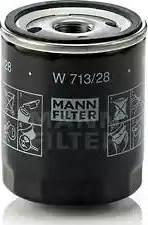 Mann-Filter W 713/28 - Масляний фільтр autocars.com.ua