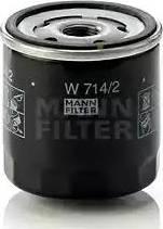 Mann-Filter W 714/2 - Масляний фільтр autocars.com.ua
