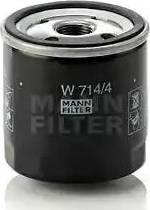 Mann-Filter W 714/4 - Масляний фільтр autocars.com.ua