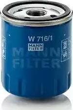 Mann-Filter W 716/1 - Масляний фільтр autocars.com.ua