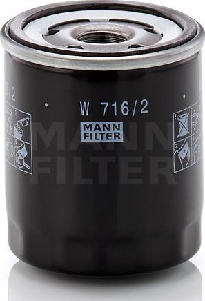 Mann-Filter W 716/2 - Масляний фільтр autocars.com.ua