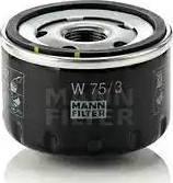 Mann-Filter W 75/3 - Масляний фільтр autocars.com.ua