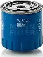 Mann-Filter W 815/3 - Масляний фільтр autocars.com.ua