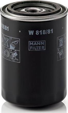 Mann-Filter W 818/81 - Масляний фільтр autocars.com.ua