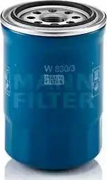 Mann-Filter W 830/3 - Масляний фільтр autocars.com.ua