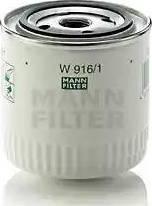 Mann-Filter W 916/1 - Масляний фільтр autocars.com.ua