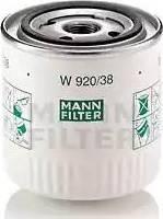 Mann-Filter W 920/38 - Масляний фільтр autocars.com.ua