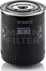 Mann-Filter W 930/12 - Масляний фільтр autocars.com.ua