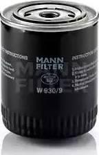 Mann-Filter W 930/9 - Масляний фільтр autocars.com.ua