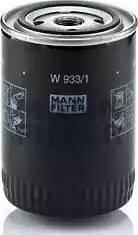 Mann-Filter W 933/1 - Масляний фільтр autocars.com.ua