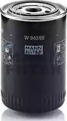 Mann-Filter W 940/69 - Масляний фільтр autocars.com.ua