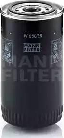 Mann-Filter W 950/26 - Масляний фільтр autocars.com.ua