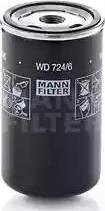 Mann-Filter WD 724/6 - Фільтр, Гідравлічна система приводу робочого устаткування autocars.com.ua