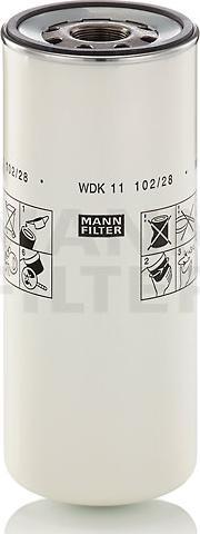 Mann-Filter WDK 11 102/28 - Паливний фільтр autocars.com.ua