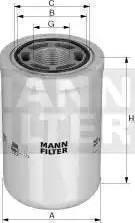 Mann-Filter WH 980/3 - Фільтр, Гідравлічна система приводу робочого устаткування autocars.com.ua