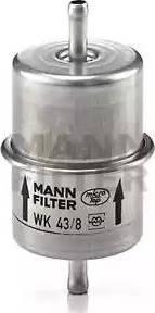 Mann-Filter WK 43/8 - Паливний фільтр autocars.com.ua