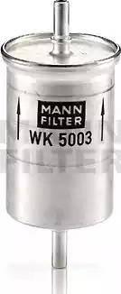 Mann-Filter WK 5003 - Паливний фільтр autocars.com.ua