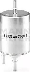 Mann-Filter WK 720/4 - Паливний фільтр autocars.com.ua
