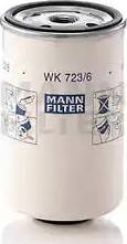 Mann-Filter WK 723/6 - Паливний фільтр autocars.com.ua