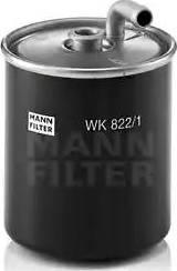 Mann-Filter WK 822/1 - Паливний фільтр autocars.com.ua