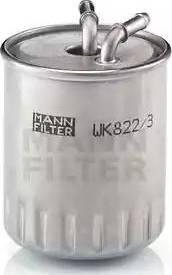 Mann-Filter WK 822/3 - Паливний фільтр autocars.com.ua