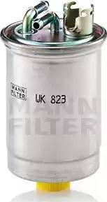 Mann-Filter WK 823 - Паливний фільтр autocars.com.ua