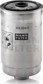 Mann-Filter WK 824/3 - Паливний фільтр autocars.com.ua