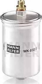 Mann-Filter WK 830/3 - Паливний фільтр autocars.com.ua