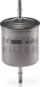 Mann-Filter WK 832/2 - Паливний фільтр autocars.com.ua