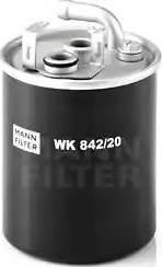 Mann-Filter WK 842/20 - Паливний фільтр autocars.com.ua