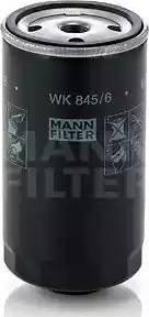 Mann-Filter WK 845/6 - Паливний фільтр autocars.com.ua