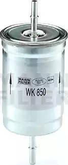 Mann-Filter WK 850 - Паливний фільтр autocars.com.ua
