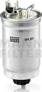 Mann-Filter WK 851 - Паливний фільтр autocars.com.ua