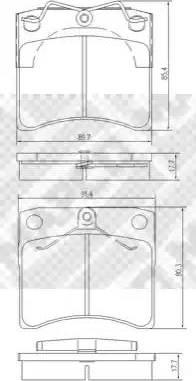 Mapco 6383/1 - Комплект тормозных колодок, дисковый тормоз autodnr.net