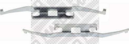 Mapco 9608 - Комплектующие, колодки дискового тормоза avtokuzovplus.com.ua