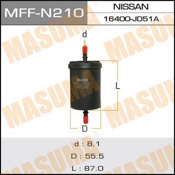 MASUMA MFF-N210 - Топливный фильтр car-mod.com