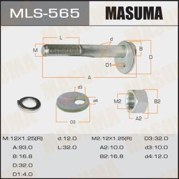 MASUMA MLS-565 - Болт регулировки развала колёс car-mod.com